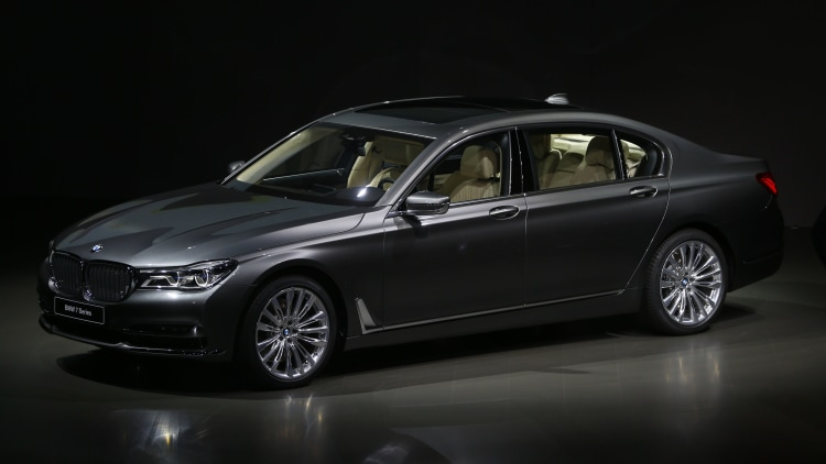 2016 BMW 7 Series sedan in dark grey
