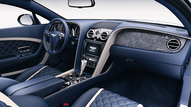 Bentley Continental GT Speed wood trim blue