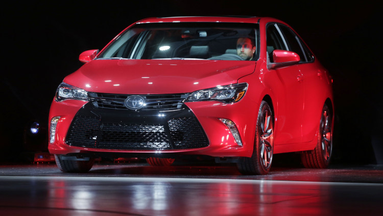 2015 Toyota Camry sedan in red