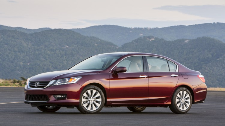 Honda Accord sedan in dark red