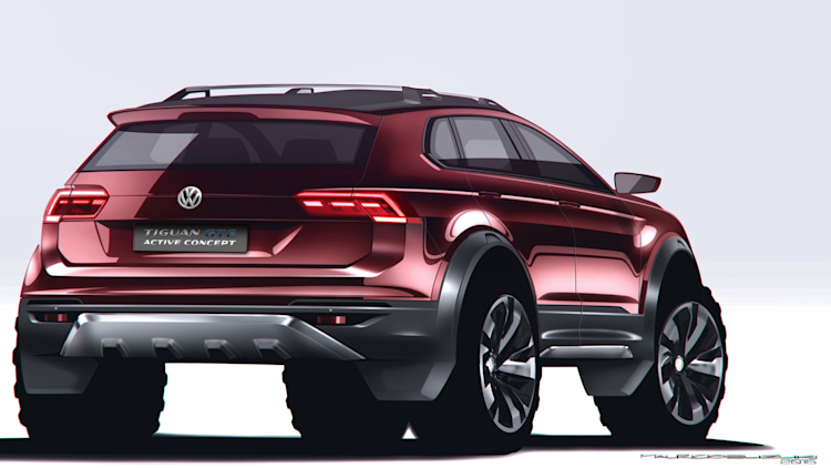 vw tiguan gte active concept is a sporty off road hybrid w video autoblog. Black Bedroom Furniture Sets. Home Design Ideas