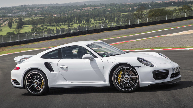 2017 Porsche 911 Turbo S front 3/4 view