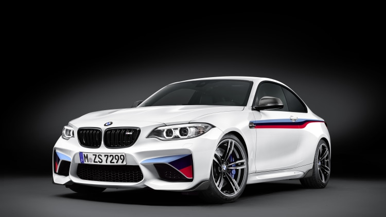 BMW M2 with M Performance Parts front 3/4