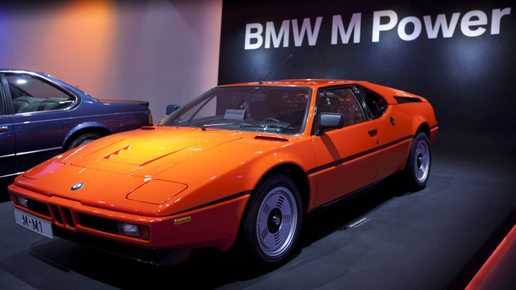 BMW M1 Sports Car at Museum in Munich, Bavaria, Germany