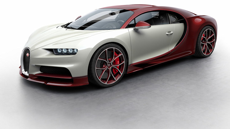 Bugatti Chiron Colorizer Previews Popular Color Schemes