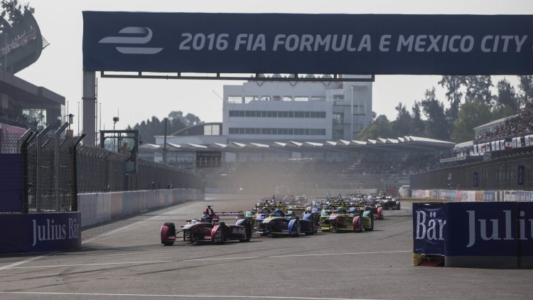2016 Formula E Mexico City ePrix start
