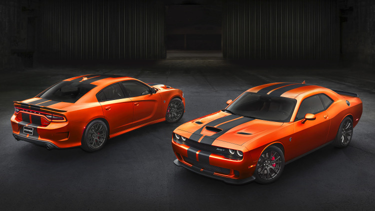 2016 dodge charger and challenger srt go mango