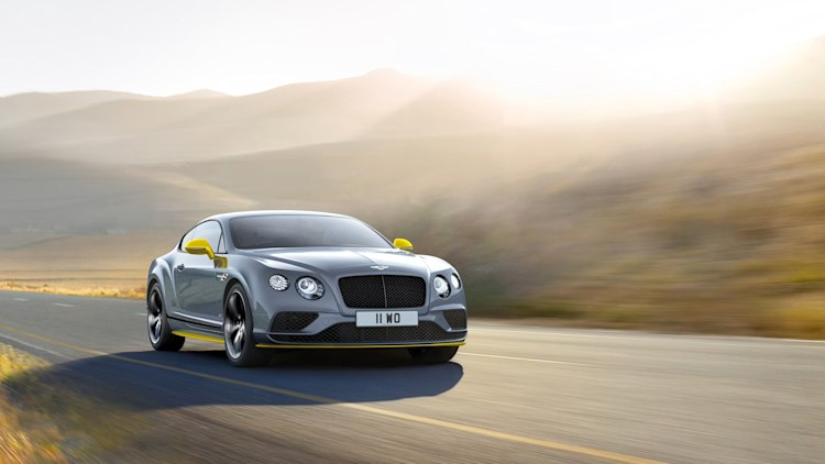 2017 Bentley Continental GT Speed Black Edition front 3/4 motion