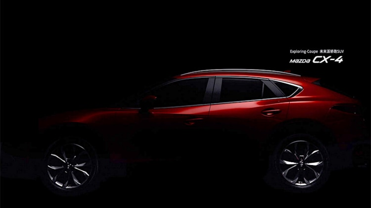 Mazda CX-4 teaser image, seen from the side
