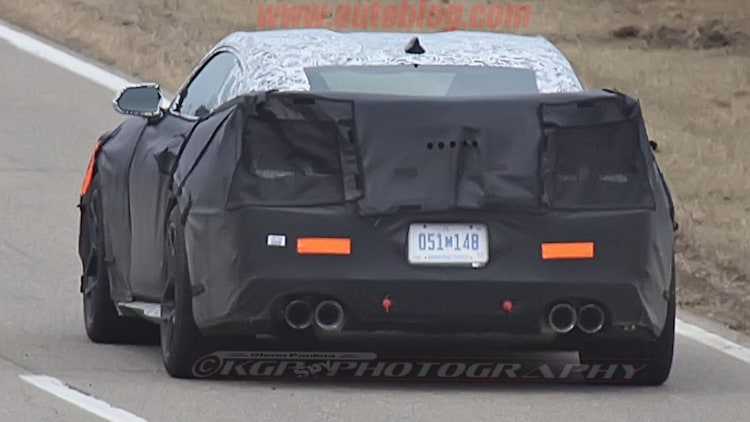 chevy camaro z28 spy shot second wing detail