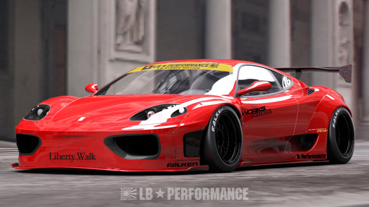 Liberty Walk Stretches The Notion Of Ferrari S 360 And