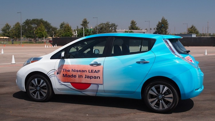 nissan leaf ev made in 2