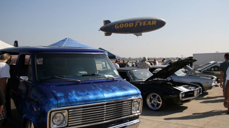 Overhaulin vehicles and Goodyear Blimp