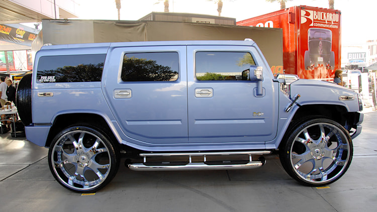 30 Inch Rims On Hummer H2 : Sema inches of bling for the hummer h auto