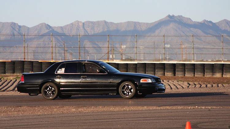 Ex-Bondurant Cobra-Engined Roush Crown Victoria