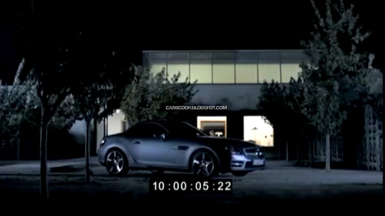 2012 Mercedes-Benz SLK leaked in French promo film