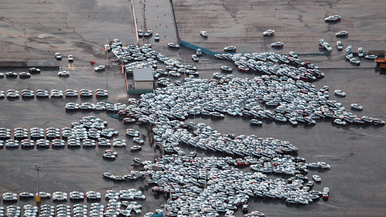 Earthquake and tsunami in Japan levels auto shipping yard
