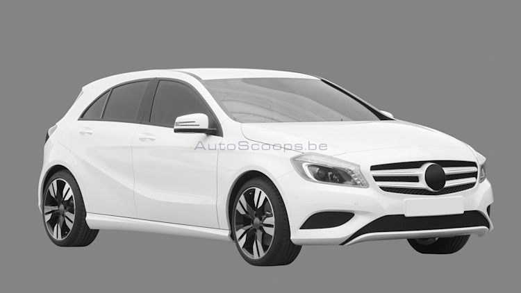 2012 Mercedes-Benz A-Class design drawings