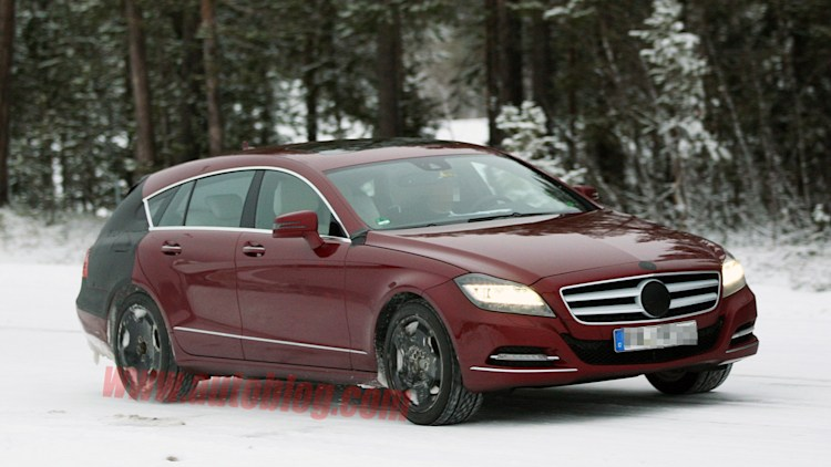 Mercedes-Benz CLS Shooting Brake spy shots
