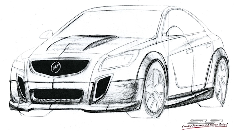 SLP Performance Buick GNX sketch