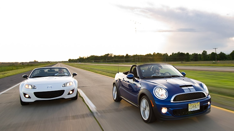 2012 Mini Cooper S Roadster vs. 2012 Mazda MX-5 Miata Special