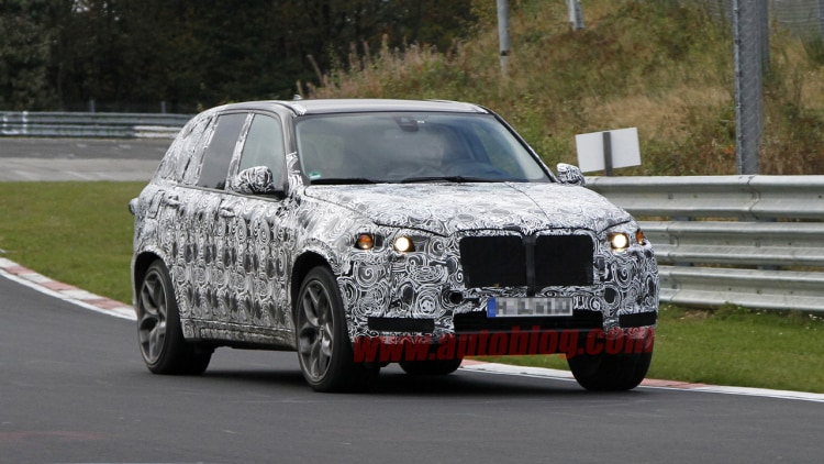 BMW X5 M spy shots  testing on the 'Ring