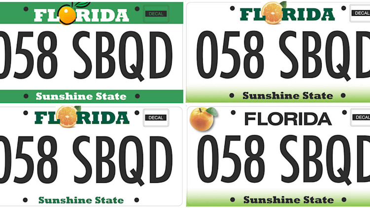 potential Florida license plate designs