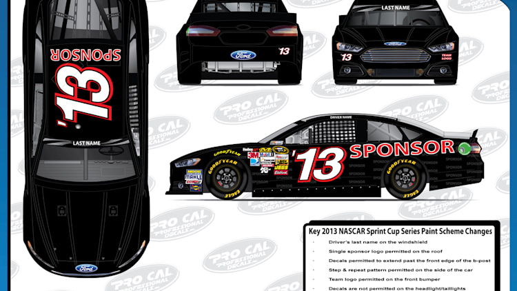 2013 NASCAR Sprint Cup car designs