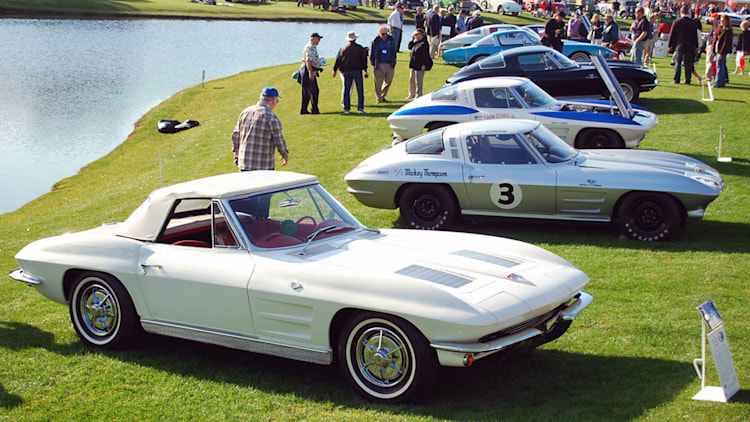 1963 Chevrolet Corvette Sting Ray display