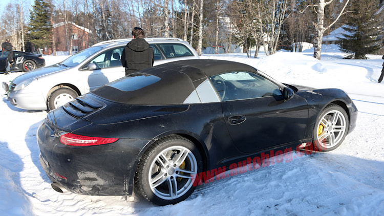 2014 Porsche 911 Targa Spotted Testing In The Snow Autoblog