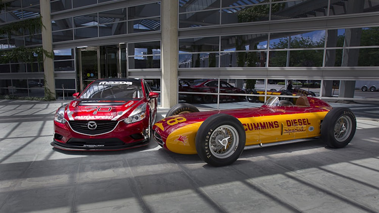 Mazda6 Skyactiv-D racer with 1952 Cummins Indy special