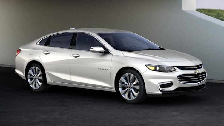 Chevy Malibu sedan in white