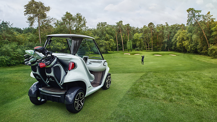 Mercedes benz plans to bring bling to the golf course for Golf cart plans