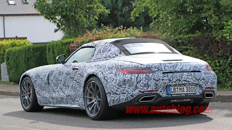 Mercedes-AMG GT C Roadster �� ������������ � Spy Video