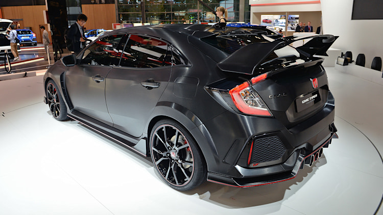 honda civic type r concept paris 2016 photo gallery autoblog. Black Bedroom Furniture Sets. Home Design Ideas