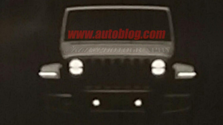2018 Jeep Wrangler JL Dealer Leak Spy Shots Front End Rendering