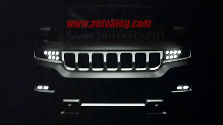 2019 Jeep Wagoneer Dealer Leak Spy Shots Front End