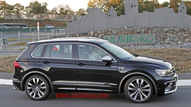 Possible Volkswagen Tiguan R spied testing at the 'Ring - Autoblog