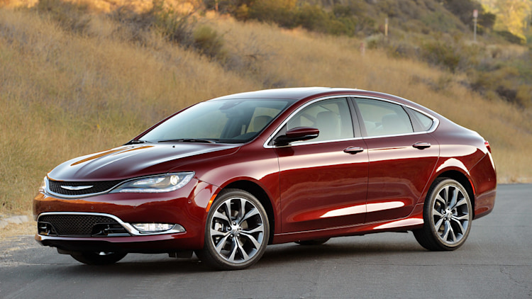 Chrysler 200 sedan in red