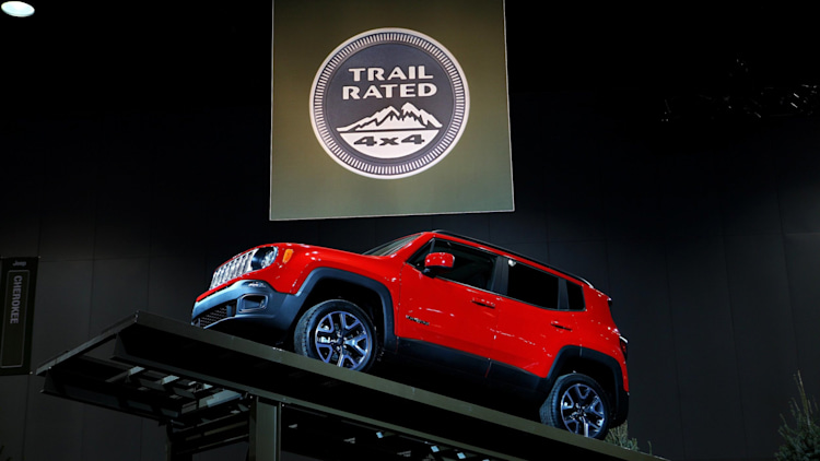 Jeep Renegade crossover in red