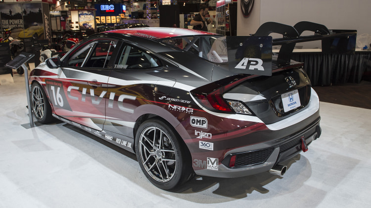2017 Honda Civic Coupe Racing Concept: SEMA 2016 Photo Gallery ...