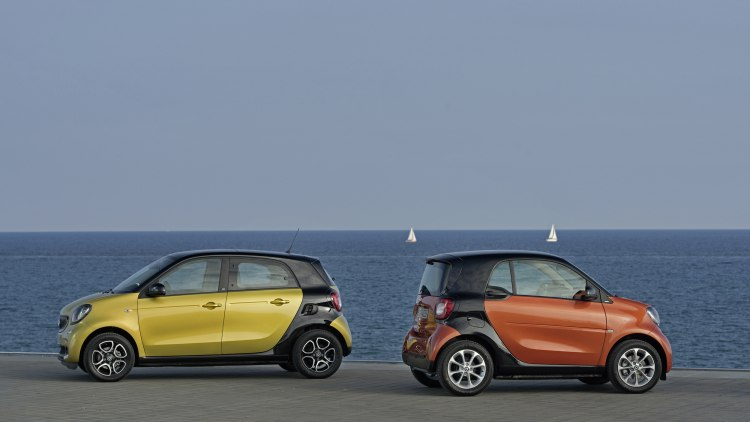 Smart Forfour and Fortwo