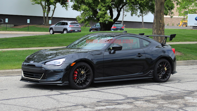 subaru testing a brz with sti badging and a big wing autoblog. Black Bedroom Furniture Sets. Home Design Ideas