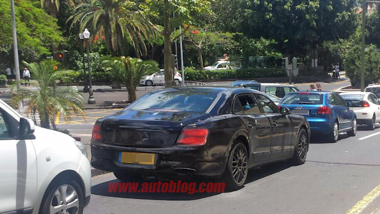 Heres our first look at the new Bentley Flying Spur sedan  Autoblog