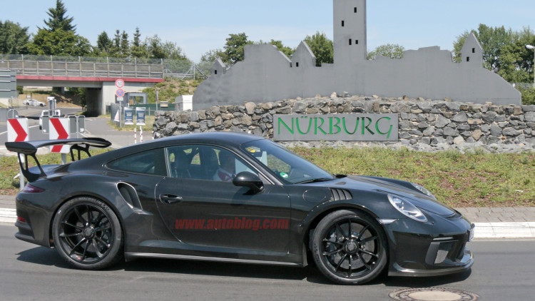 porsche 911 gt3 rs spotted on the road with gt2 rs hood. Black Bedroom Furniture Sets. Home Design Ideas