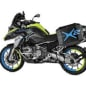 The two-wheel drive Wunderlich BMW R1200 GS LC, which uses a 10kW hub motor up front and a battery pack under the beak.