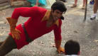Gaston Owns Disney World Tourist In Push-Up Contest