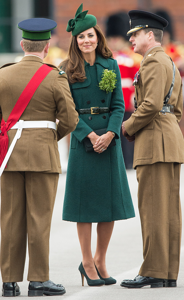 Duchess Kate is the belle of the St. Patrick's Day ball in green from head to toe