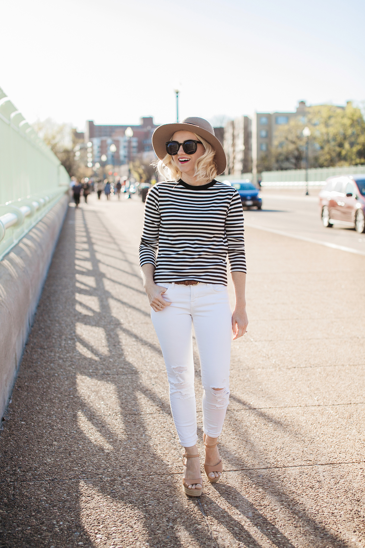 Street style tip of the day: Stripes on stripes