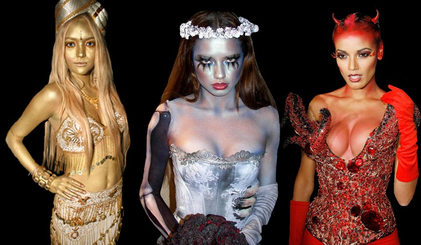 Halloween makeup, just like the models